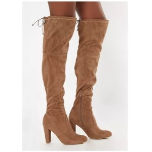 Heeled over the knee boots